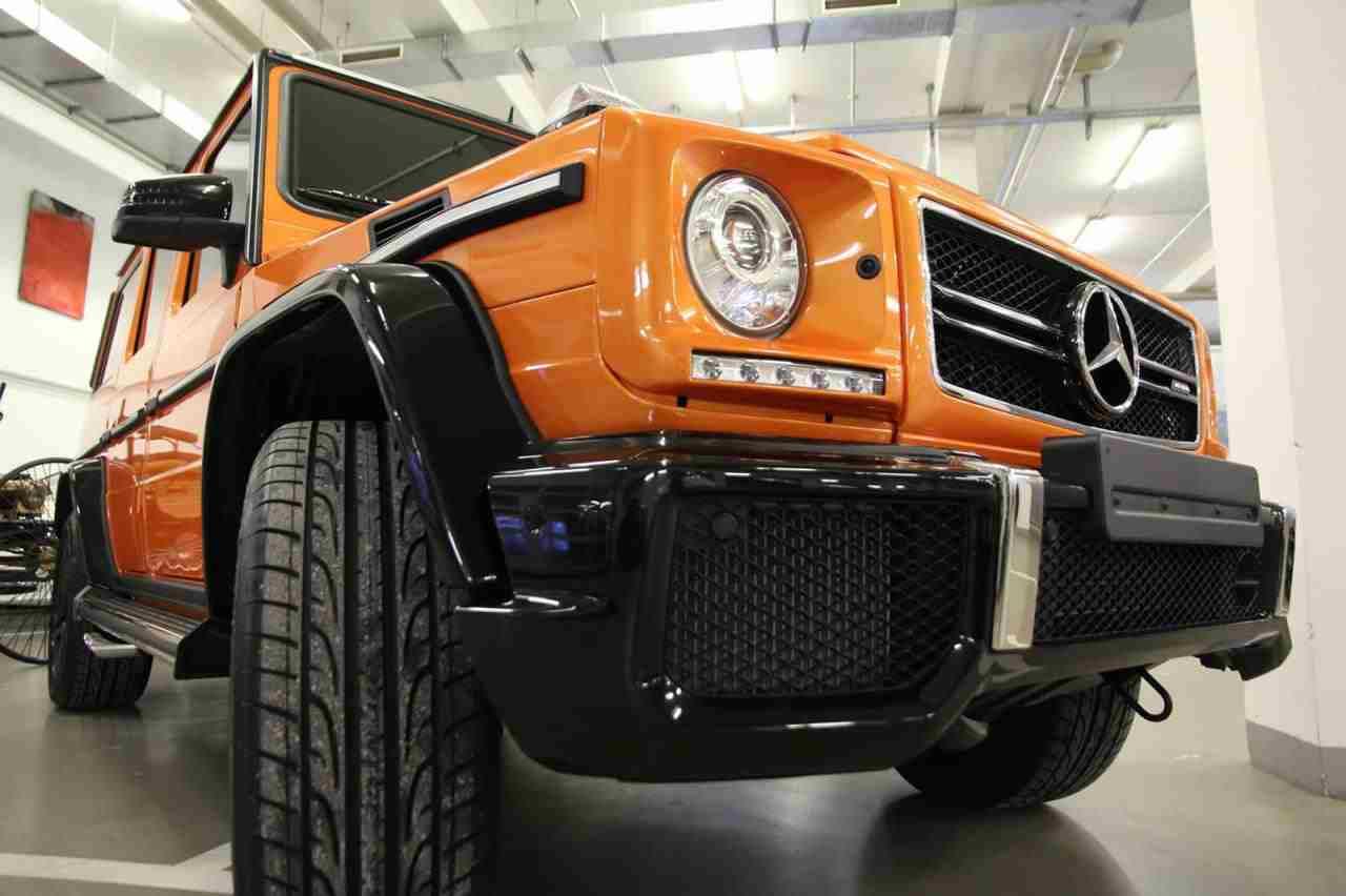 Orange Mercedes G63 Amg Crazy Color Edition Spotted