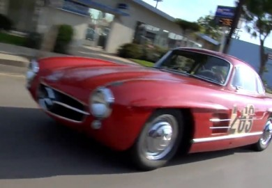 Leno Shows Off His Mercedes-Benz 300SL Gullwing Coupe