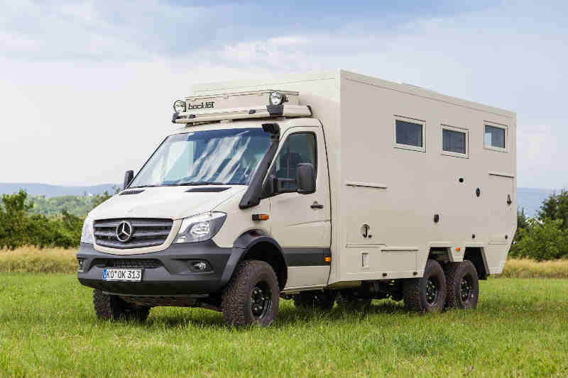 Check out the bocklet dakar 750 based on the mercedes sprinter for Mercedes benz sprinter motorhome
