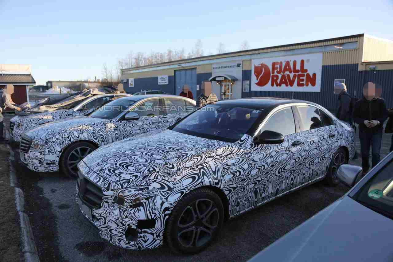new mercedes eclass spied after winter testing in scandinavia