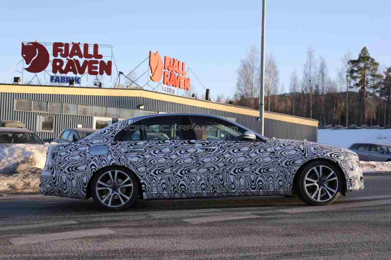 New Mercedes E-Class Spied After Winter Testing in Scandinavia