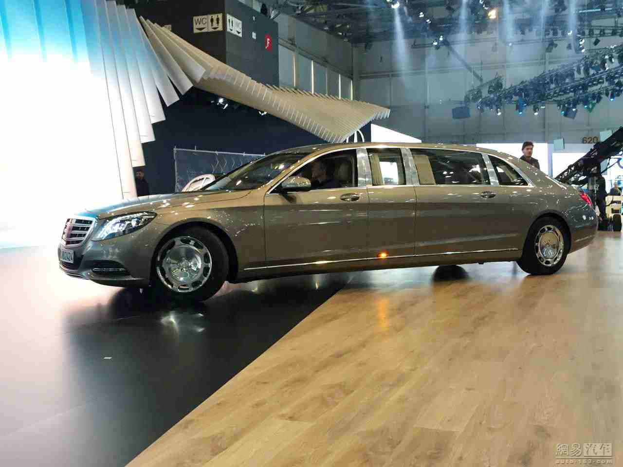 The new mercedes pullman before geneva motor show for Mercedes benz pullman