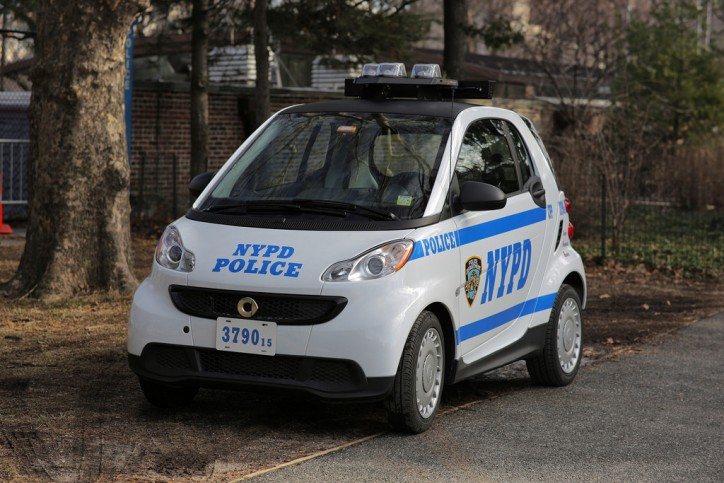 nypd smart fortwo car