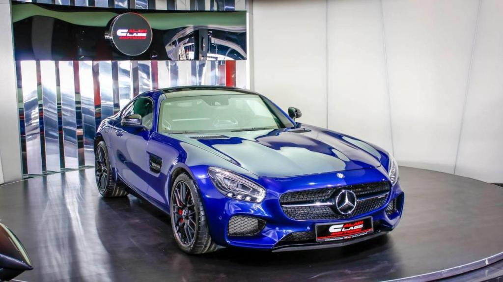 exquisite looking blue mercedes amg gt s benzinsider com a