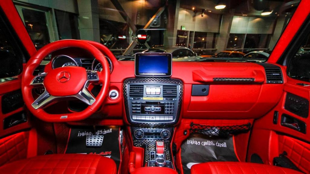 Brabus mercedes g65 800 displayed at al ain class motors for Mercedes g interno