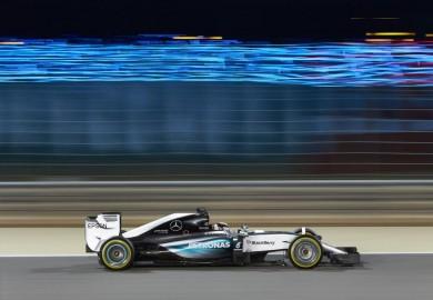 F1 Mercedes Lewis Hamilton wins 2015 Bahrain Grand Prix