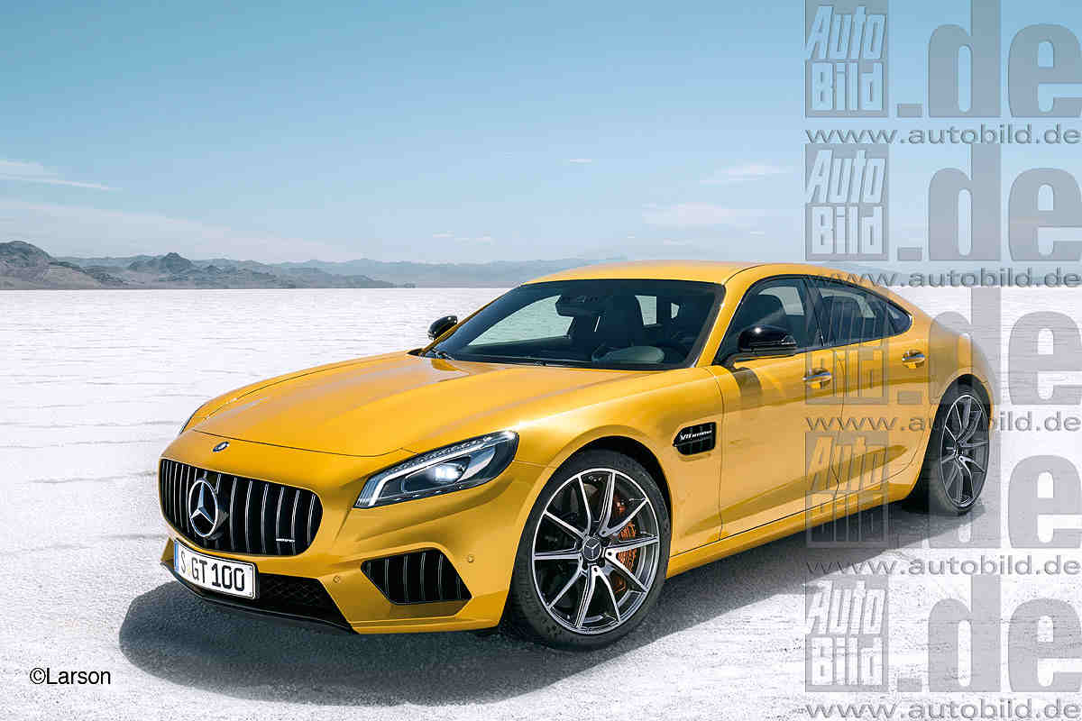mercedes amg gt sedan version planned. Black Bedroom Furniture Sets. Home Design Ideas