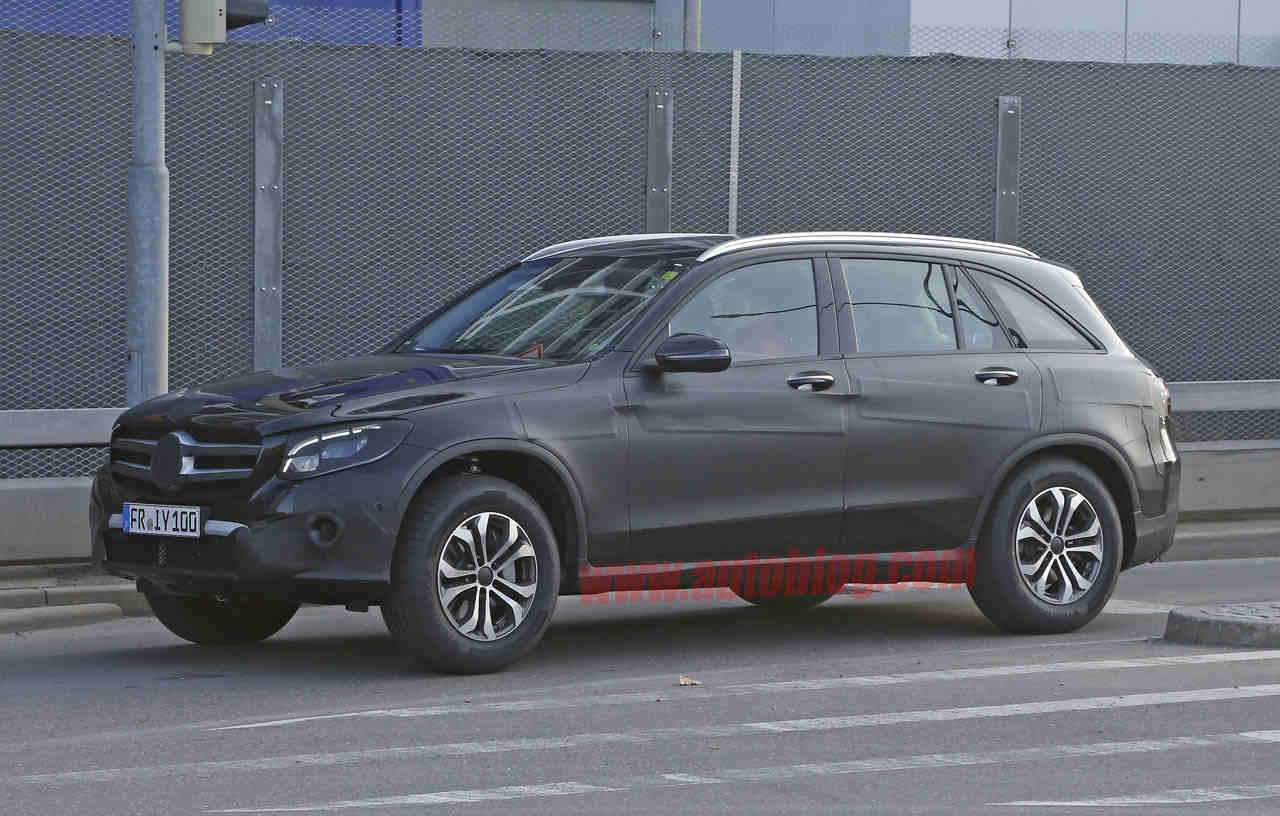 spy photo of the Mercedes GLC with partial camo. (Photo Source ...