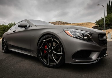 Gunmetal Grey Mercedes-Benz S-Class Coupe Fitted With Forgiato Wheels