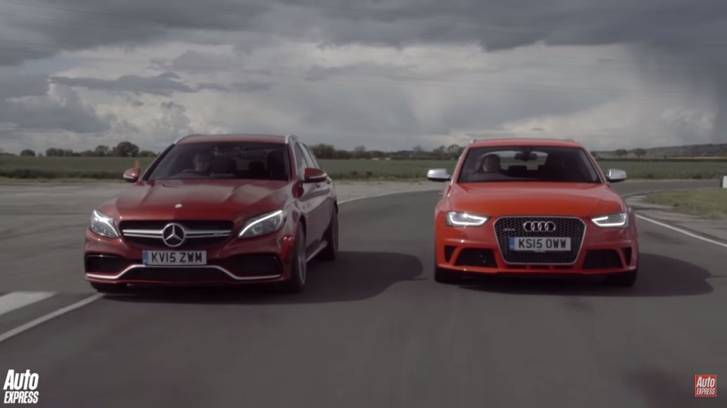 Video Shows Mercedes-Benz C63 AMG Going Up Against The Audi RS4