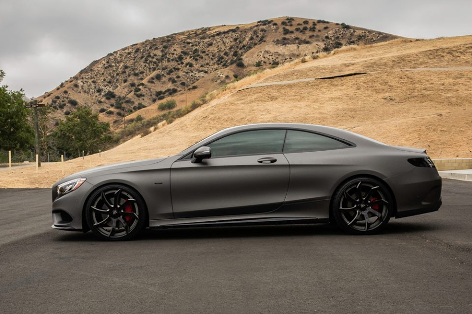 Gunmetal Grey Mercedes Benz S Class Coupe Fitted With