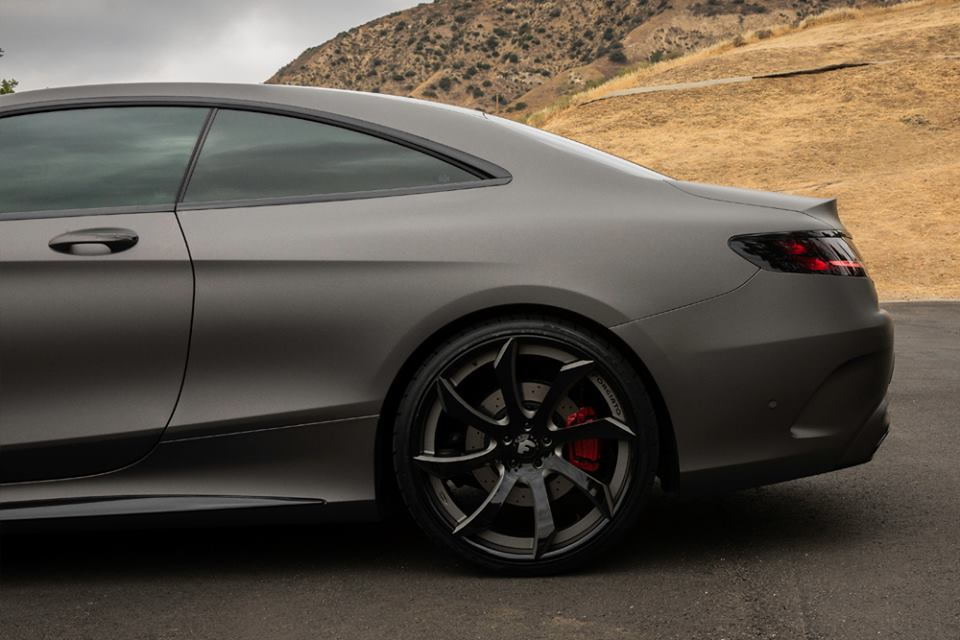 Gunmetal Grey Mercedes Benz S Class Coupe Fitted With Forgiato Wheels Benzinsider Com A