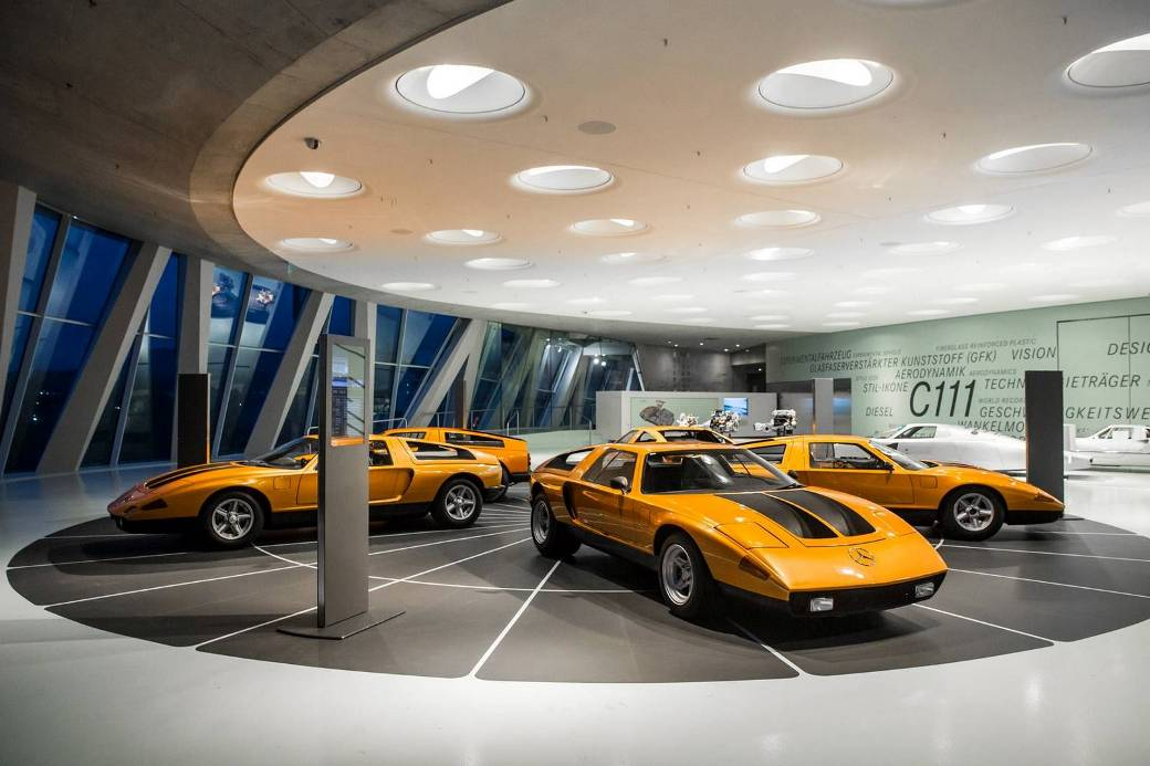 mercedes benz museum display iconic mercedes benz c111 a mercedes benz fan blog. Black Bedroom Furniture Sets. Home Design Ideas