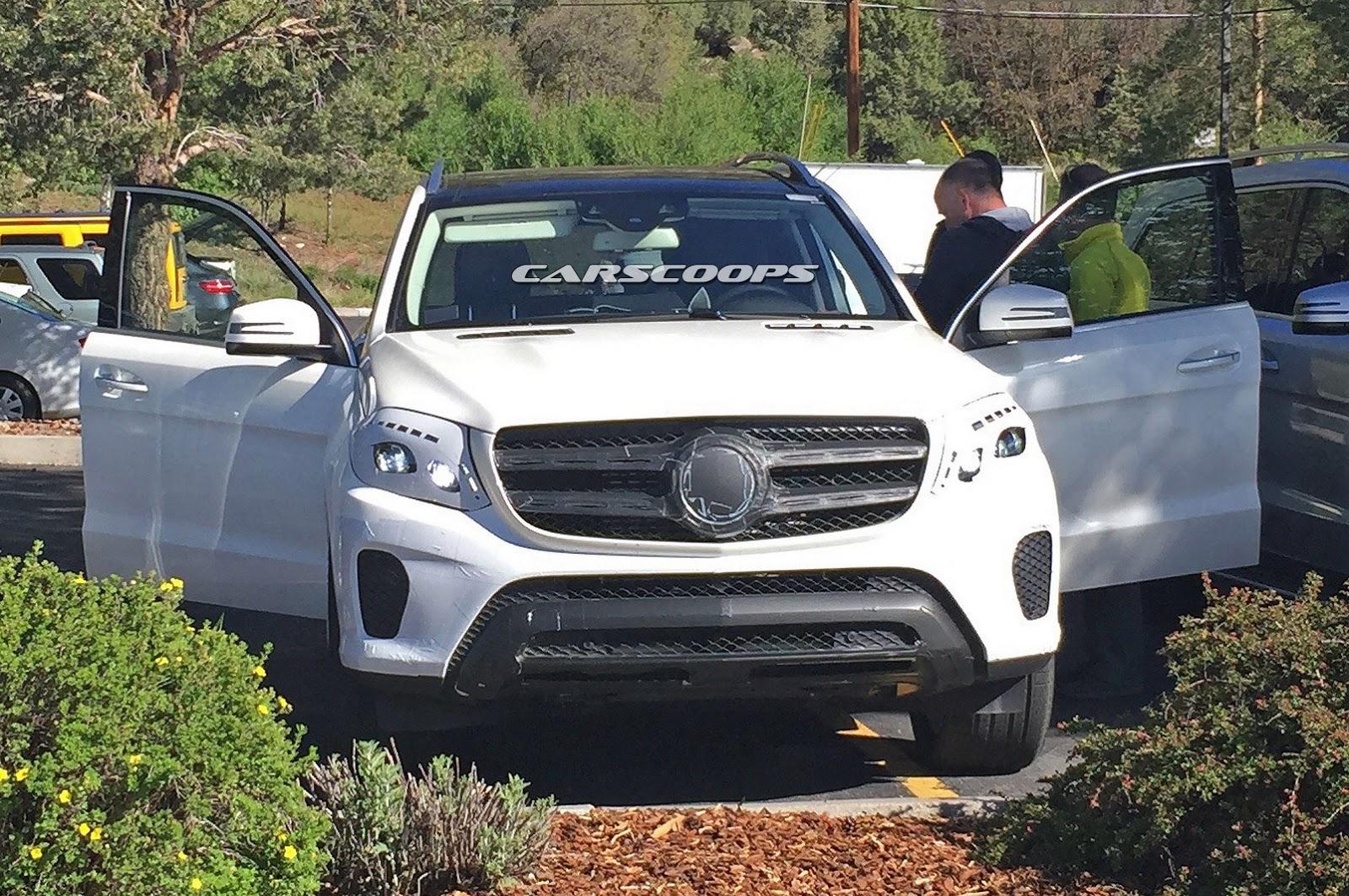 Mercedes benz gls seen with lesser camo for Mercedes benz gs
