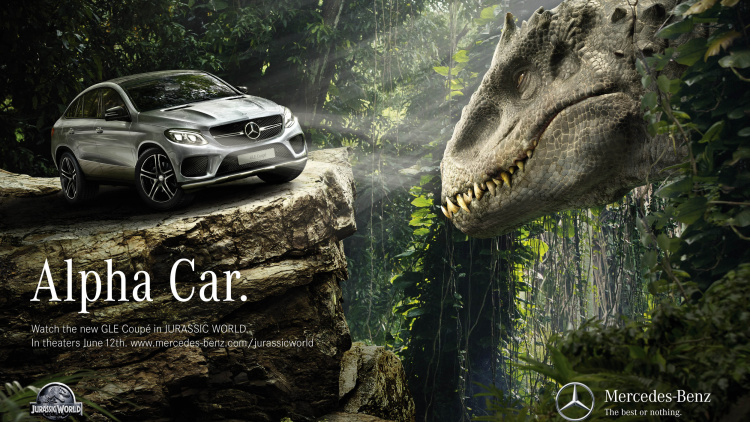 Mercedes Benz Meets The Dinosaurs In Jurassic World on jurassic world mercedes coupe