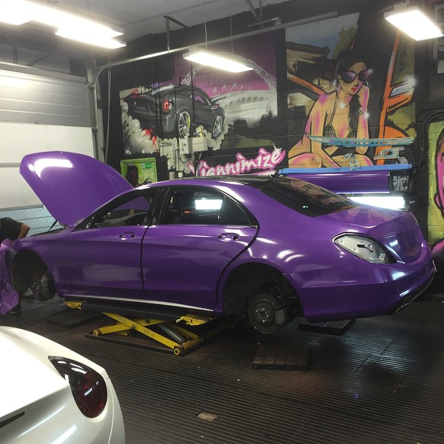 Mercedes-Benz S-Class Wrapped In Purple