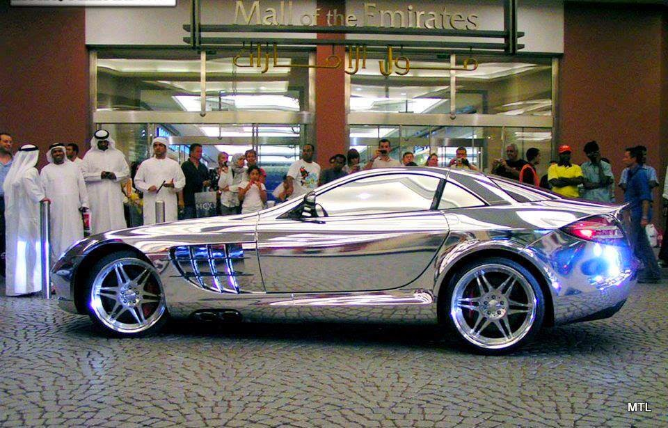 check out this mercedes-benz slr mclaren in white gold