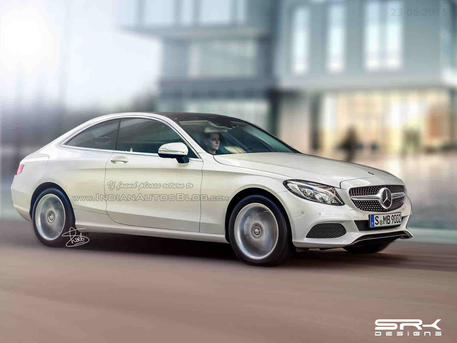 2016 mercedes benz c class coupe spy shots and render for Mercedes benz c coupe