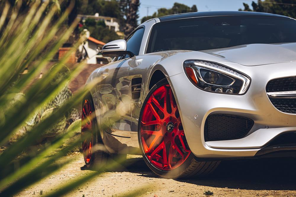 Mercedes-AMG GT S Given Red Forgiato Wheels