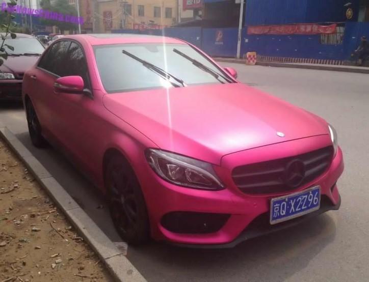 Mercedes-Benz C-Class L in Pink