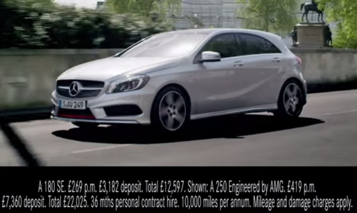 New mercedes benz a class ad released for Mercedes benz new advert