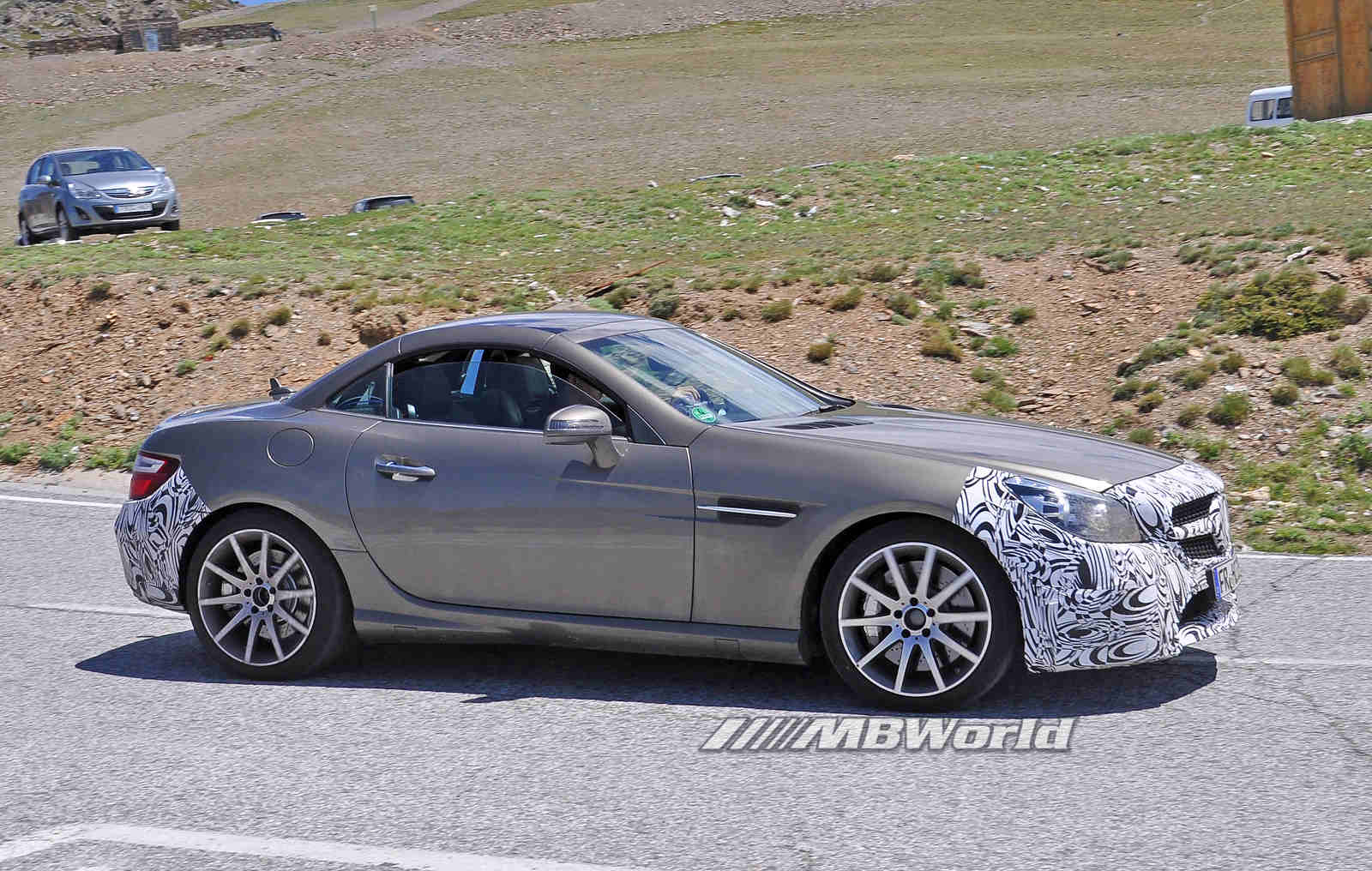 More spy photos of the mercedes benz slc 450 amg sport for Slc mercedes benz