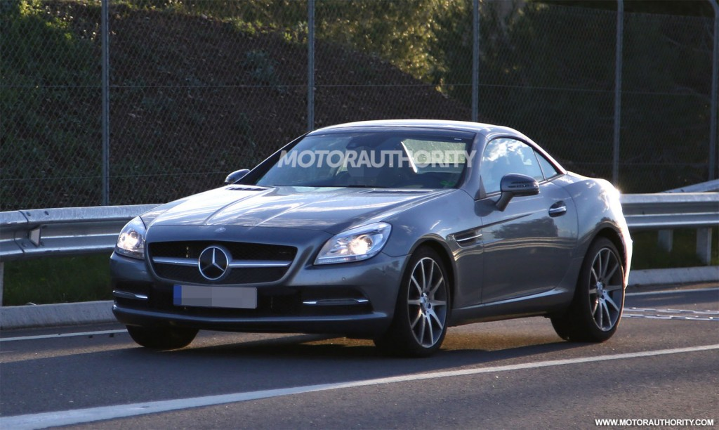 Spy shots gallery featuring the 2016 mercedes benz slc for Slc mercedes benz