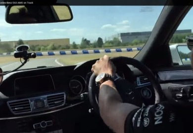 Drifting With Lewis Hamilton On A Mercedes-Benz E63 AMG
