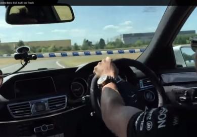 Drifting With Lewis Hamilton On A Mercedes-Benz E63 AMG