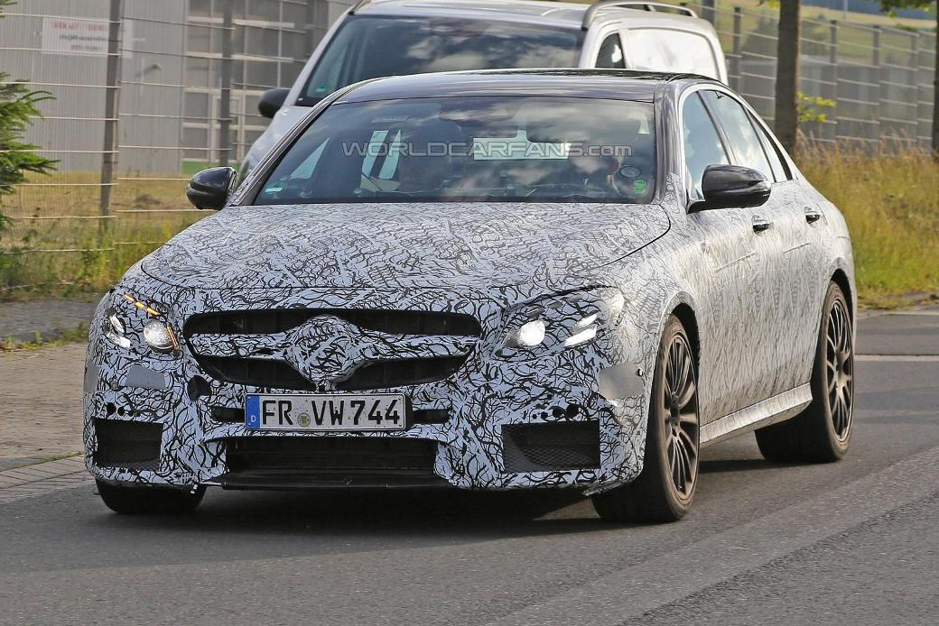 Camouflaged Mercedes-Benz E63 AMG Prototype Caught On Camera