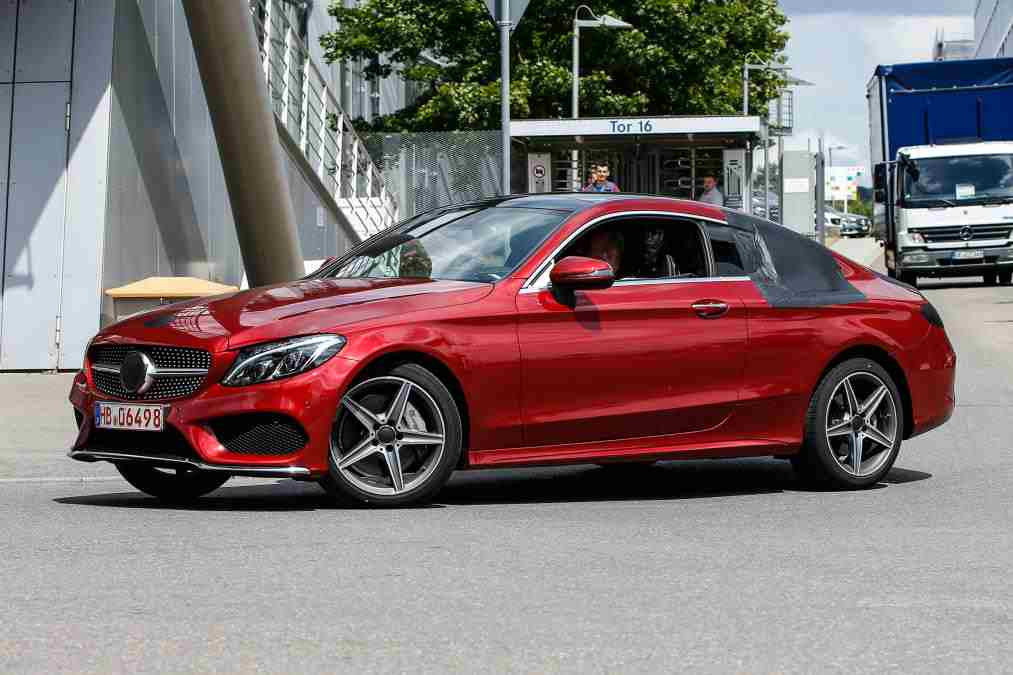 the mercedes benz c class coupe is almost undisguised. Black Bedroom Furniture Sets. Home Design Ideas