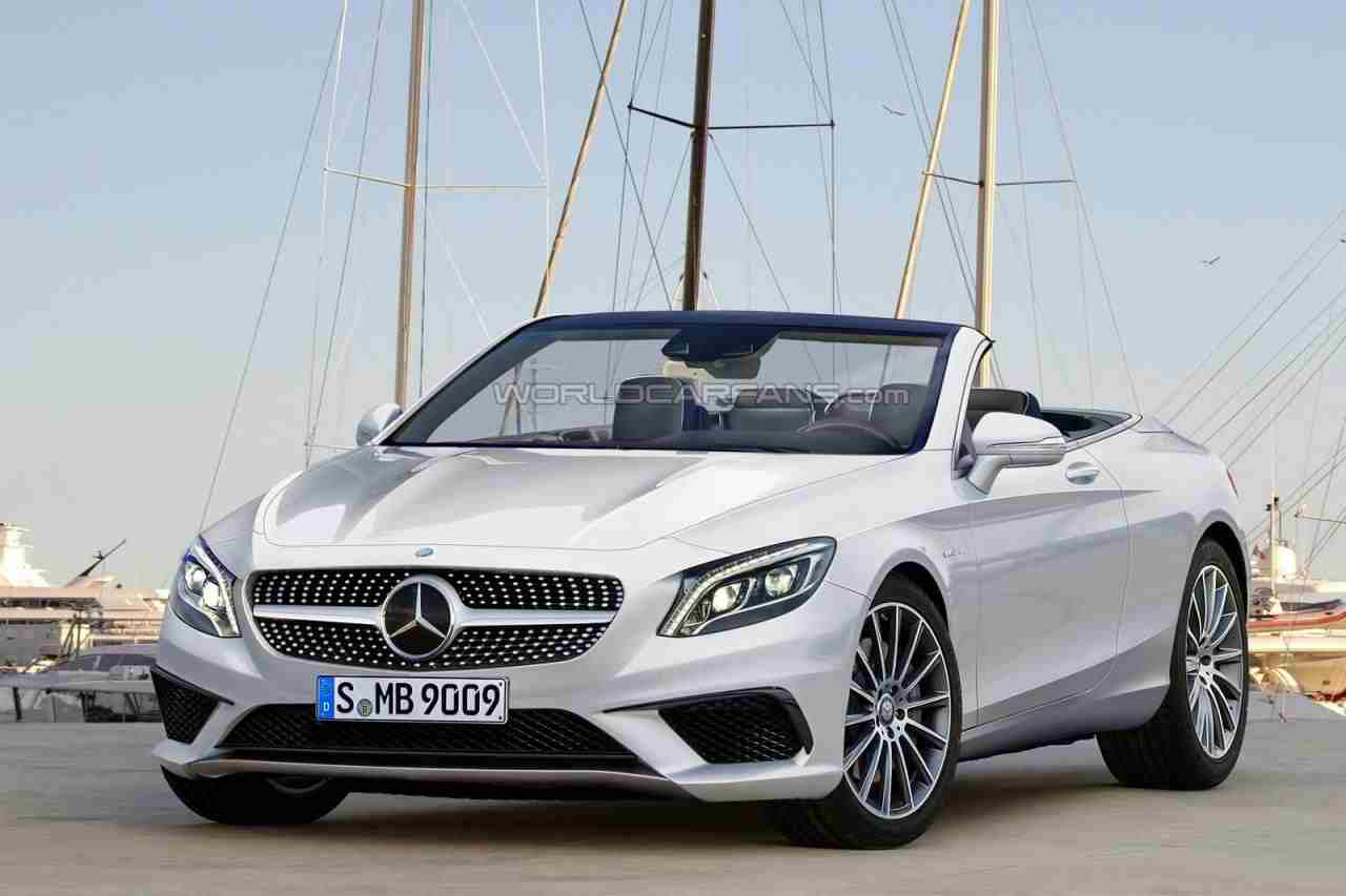 2016 mercedes benz s class convertible rendered for Mercedes benz coupe convertible