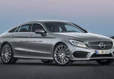Four-Door Mercedes-Benz C-Class Coupe Rendered