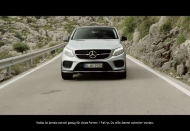 Lewis Hamilton Shares F1 Experience In Mercedes-Benz GLE Coupe Ad