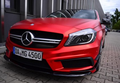 Painting The Town With A Red-Wrapped Mercedes-Benz A45 AMG From Folien Experte