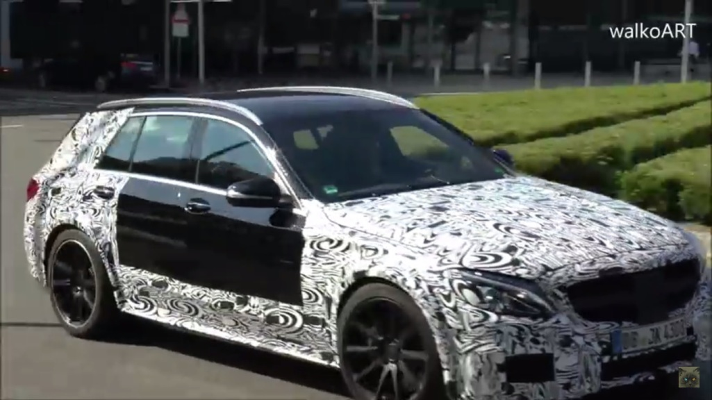 Appearance of Mercedes-AMG C63 Estate prototype baffles industry observer