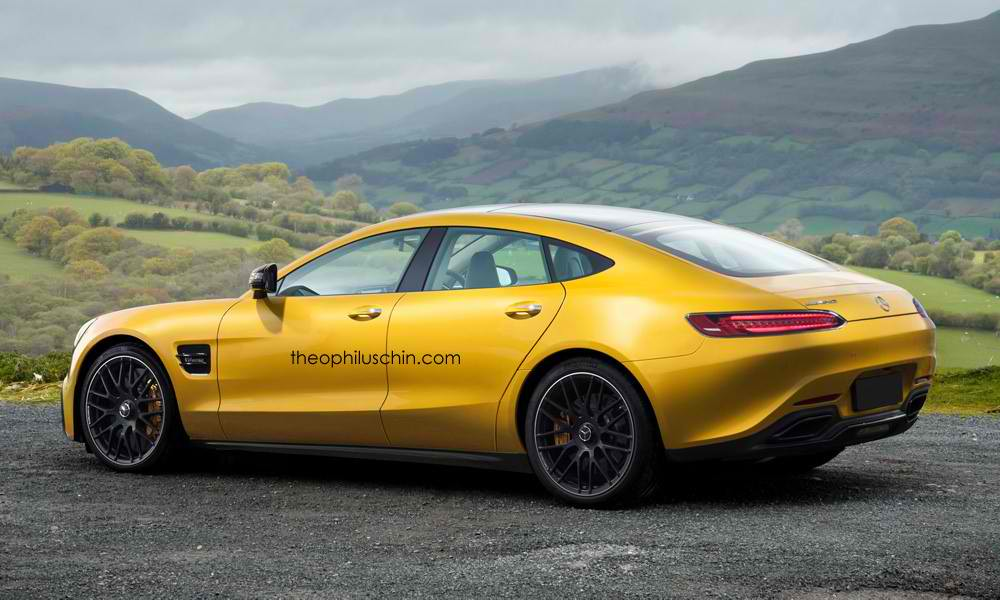 rumored mercedes amg gt4 rendered. Black Bedroom Furniture Sets. Home Design Ideas