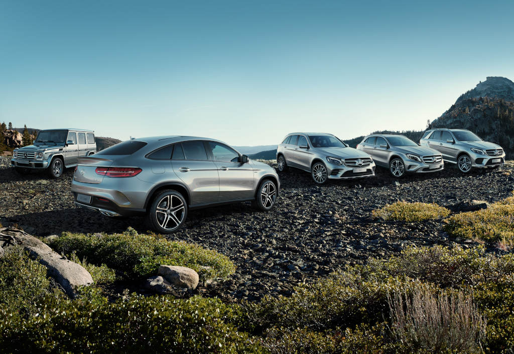 Mercedes benz launches new suv marketing campaign powered for Mercedes benz range