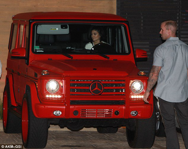 Kylie Jenner Gets Her Red Mercedes Benz G Class Wrapped
