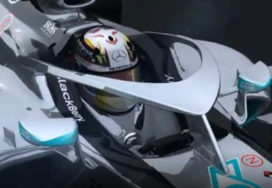 mercedes f1 car halo