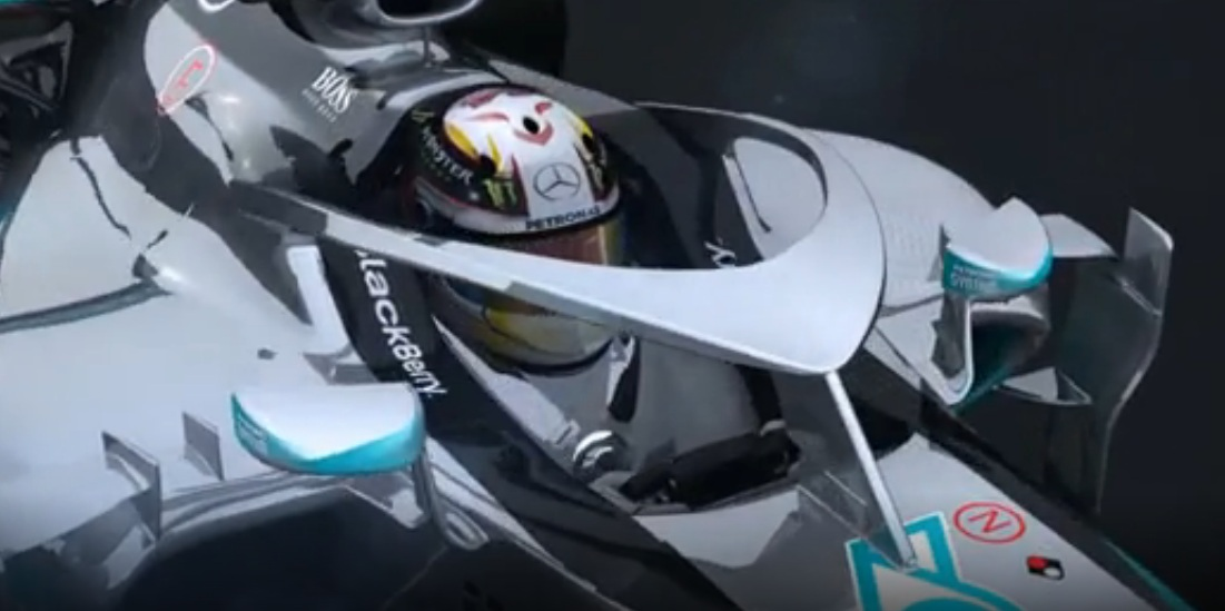 mercedes f1 car halo & Mercedes Proposes Halo Concept for F1