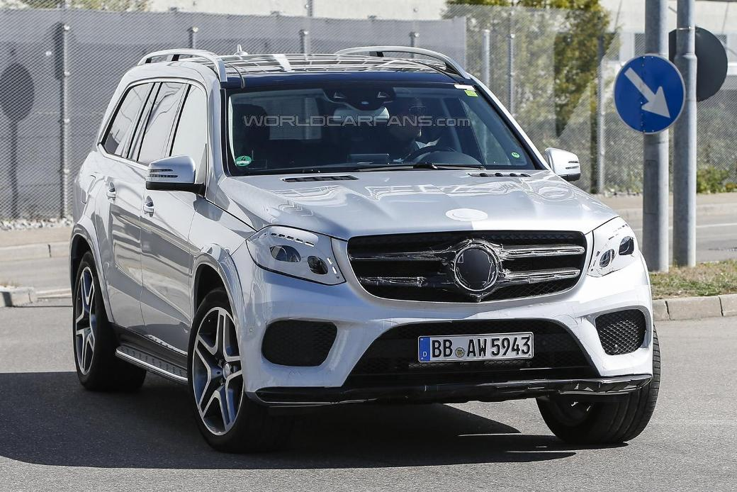Spy Shots Show Barely Covered 2016 Mercedes-Benz GLS