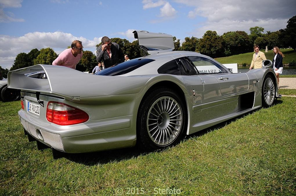 mercedes benz clk gtr spotted at chantilly 2015