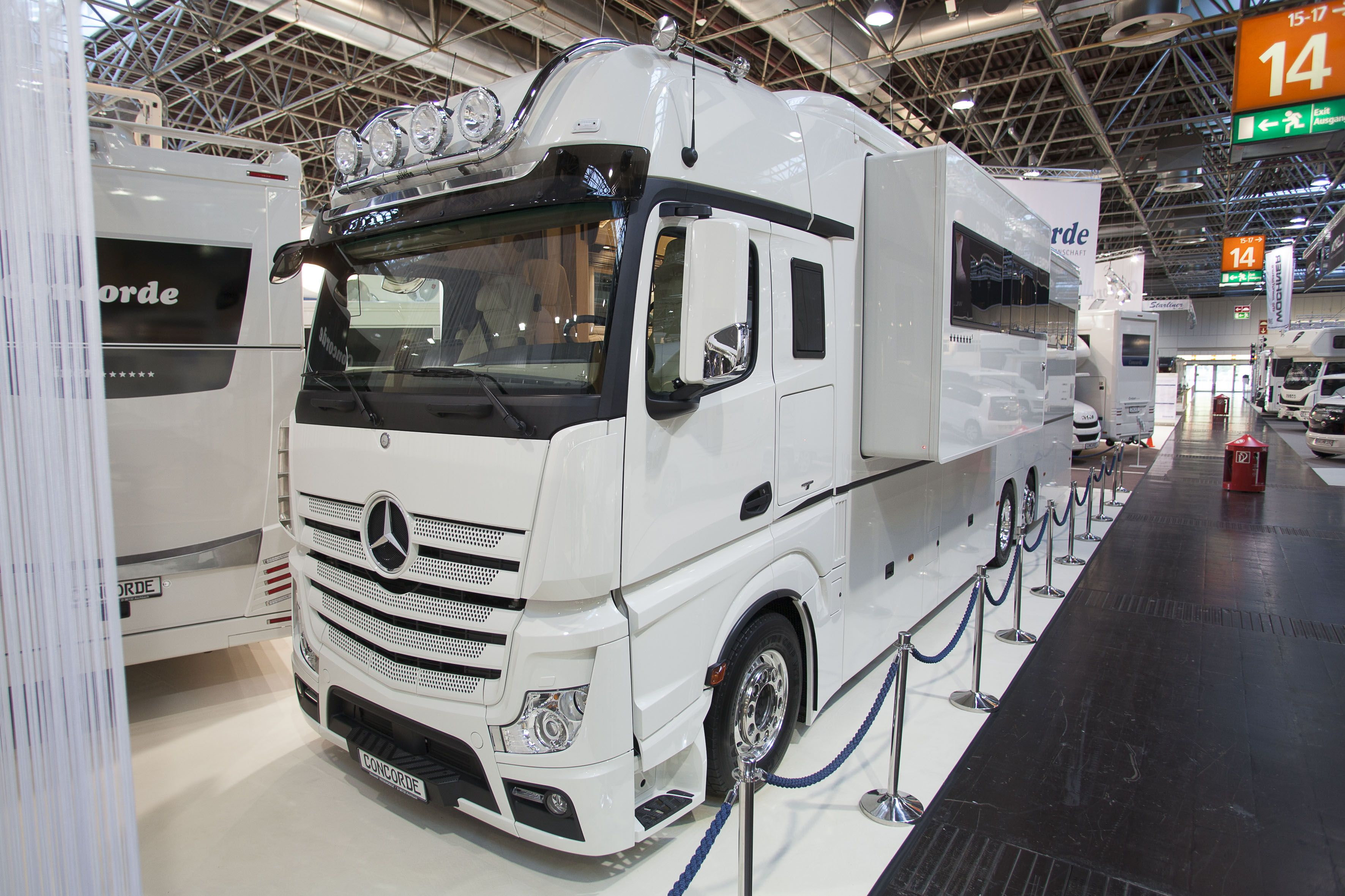 Mercedes benz antos and actros turned into campers for Mercedes benz motor home