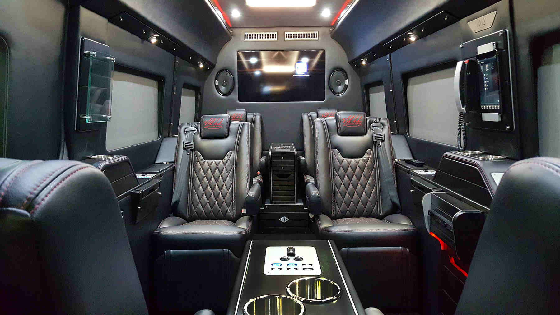 nick saban pimps up mercedes benz sprinter interior. Black Bedroom Furniture Sets. Home Design Ideas