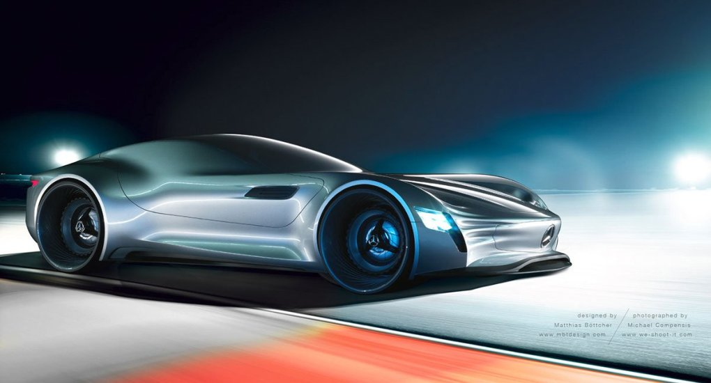 Futuristic Mercedes Benz Concept Vehicle Created By German