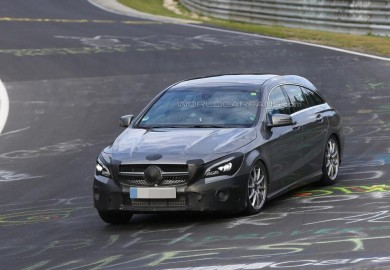 Facelifted Mercedes-Benz CLA Shooting Brake Seen On Nürburgring