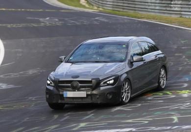 Facelifted Mercedes-Benz CLA Shooting Brake Seen On Nürburgring