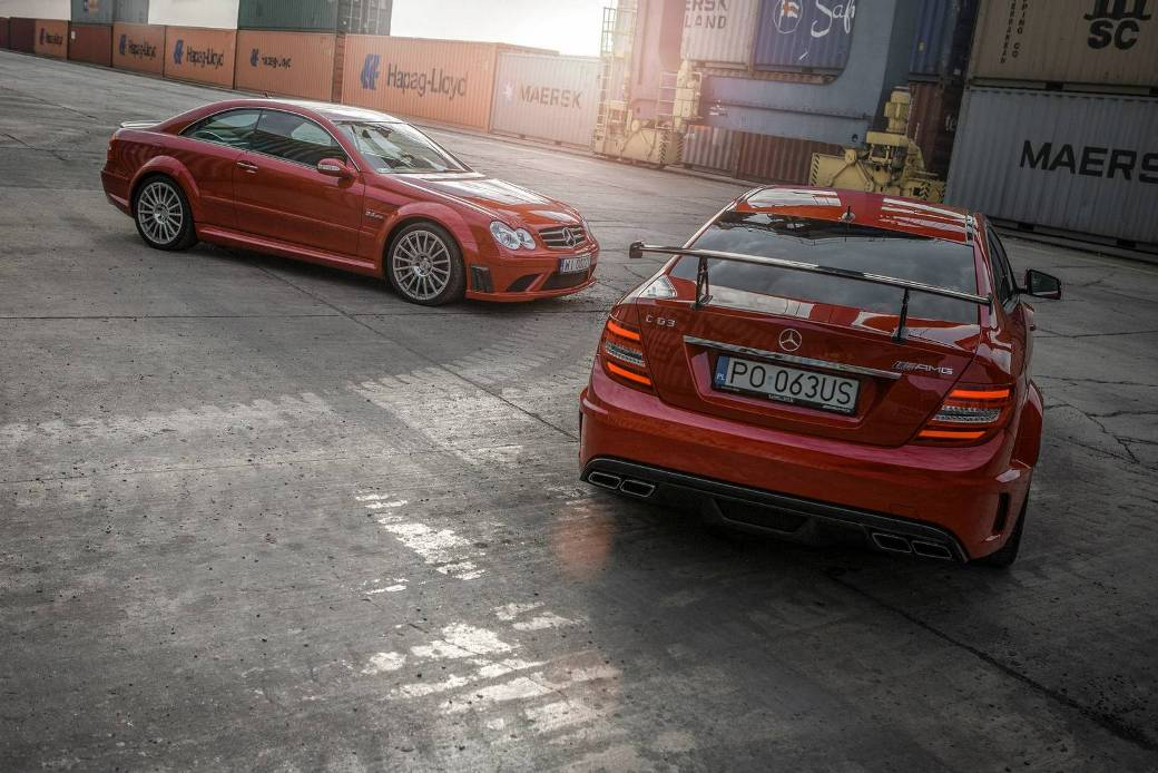 Appeal Of Mercedes-Benz C63 AMG and CLK63 AMG Black Series Displayed In A Photo Shoot - BenzInsider.com - A Mercedes-Benz Fan Blog