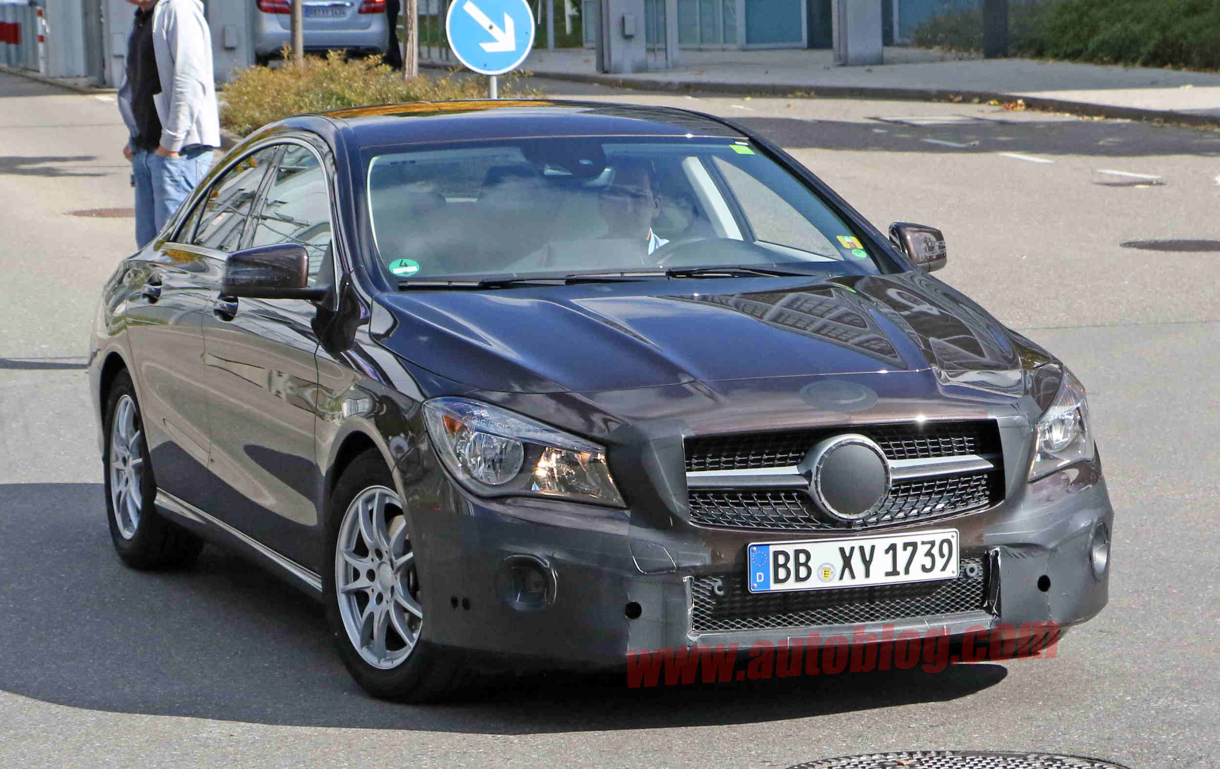 Facelifted mercedes benz cla spied in germany for Mercedes benz in germany
